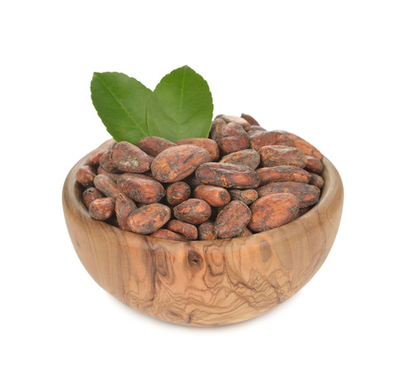 cocoa beans: Cocoa beans isolated on white background