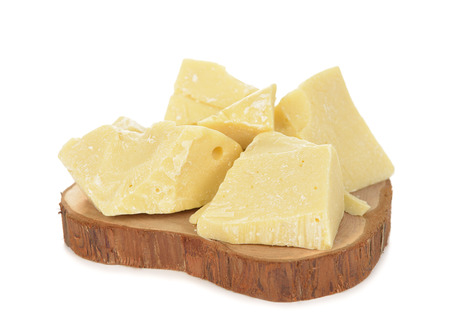 Cocoa butter isolated on white background 版權商用圖片