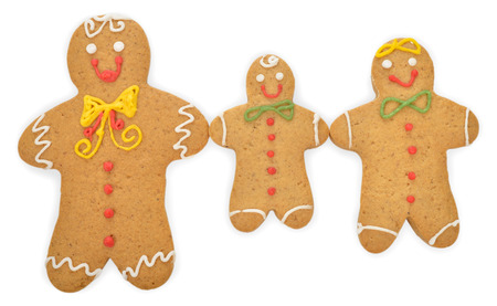 gingerbread man: Christmas gingerbread man isolated on white background Stock Photo