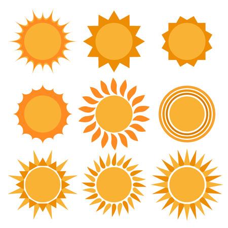 Sun icons collection. Sun Icon eps. Vector