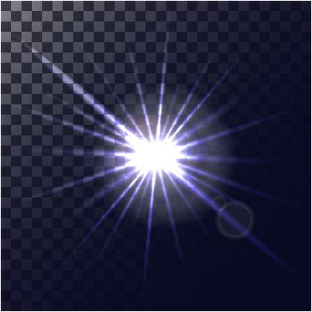 White glowing light burst explosion with transparent. Vector illustration for cool effect decoration with ray sparkles. Bright star. Transparent shine gradient glitter, bright flare. Glare texture. 矢量图像