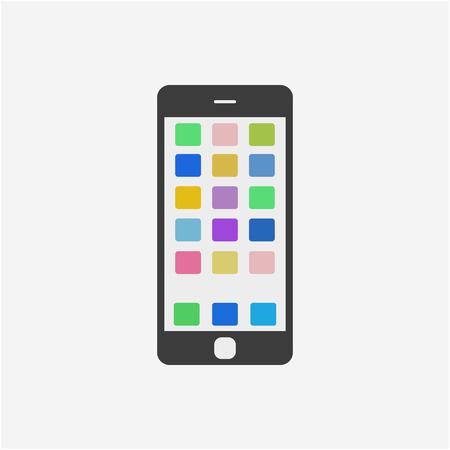 Mobile phone icon vector illustration. Smartphone icon.
