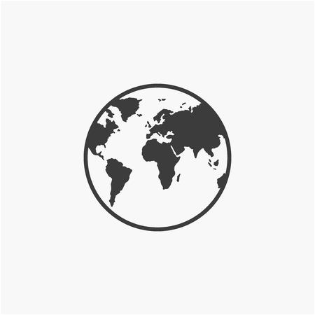 Globe icon vector illustration. Flat design style.