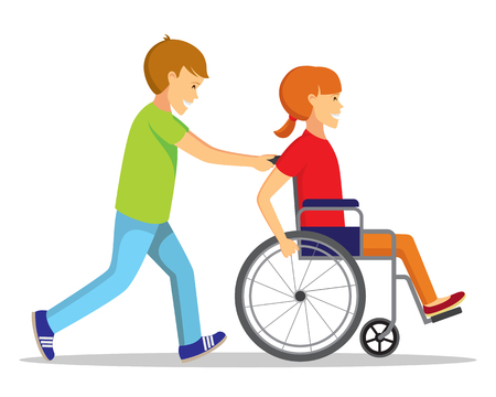 Disabled people and friend.