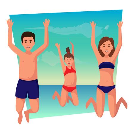 Happy family summer vacation.