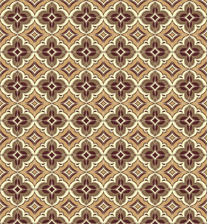 East patterns in brown colors on all background Illustration