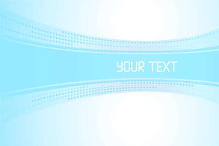 d�bord�: Banni�re pour le texte sur un fond bleu clair Illustration