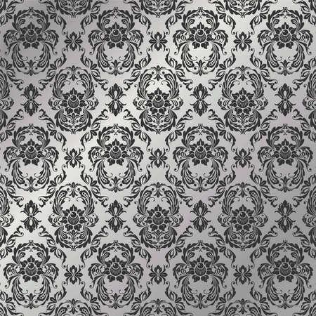 Graceful decorative wallpaper of silvery tones Stock Vector - 5047294