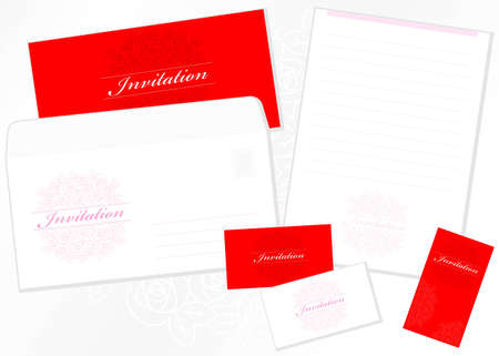 Design of card, envelope and the letter form Vector