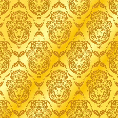 recurrence: Graceful patterns on a golden background