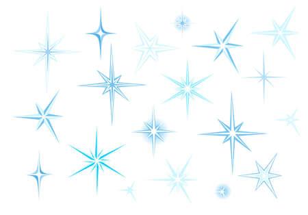 simulating: Set of elements simulating shine