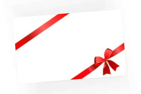 congratulatory: Congratulatory card with a red bow