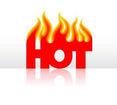 reflexion: stylised word hot with reflexion Illustration