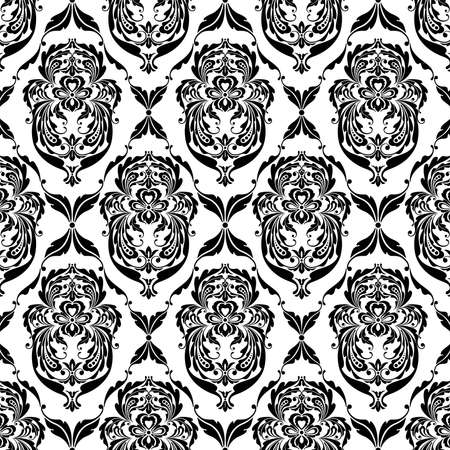 recurrence: Graceful black patterns on a white background