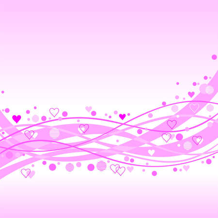 strip structure: abstract pink background with hearts