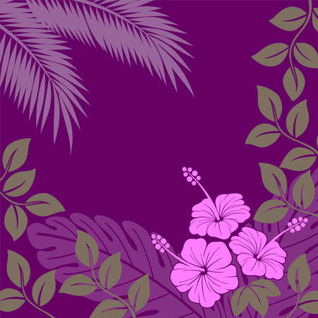 background with abstract exotic plants