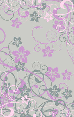 banner with abstract floral background Illustration