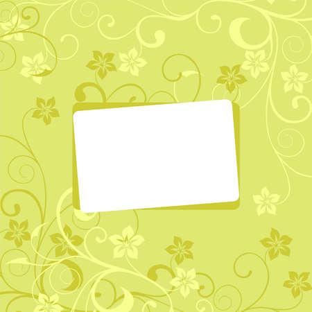 weaved: white framework on a green flower background