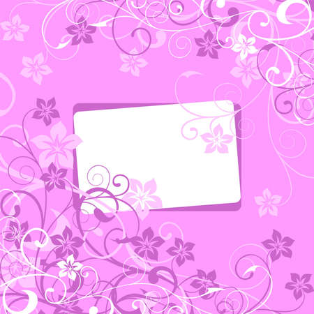 white framework on a lilac flower background Stock Vector - 6386172
