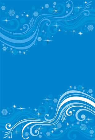 tonality: winter patterns on a blue background Illustration