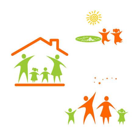 Famille et enfants Vecteurs