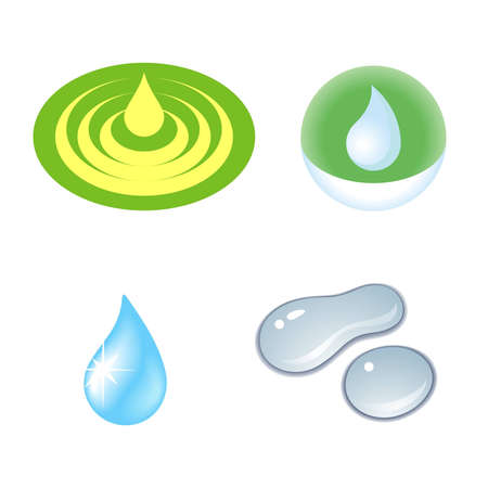 Set of drops on a white background Stock Vector - 9151761
