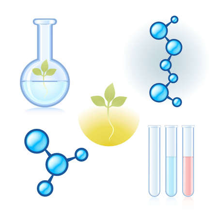 Set of isolated scientific symbols