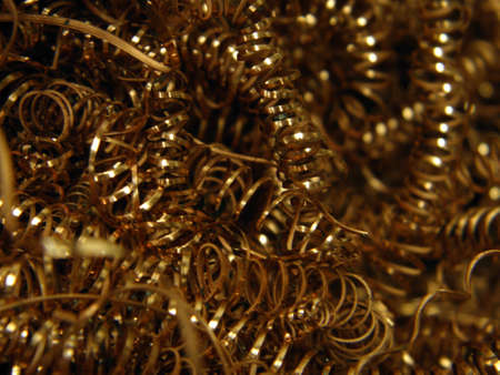 jumble: Close-up of copper turnings