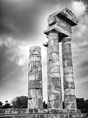 The Temple of Apollo on the Monte Smith in Rodos town on the island of Rhodes  photo
