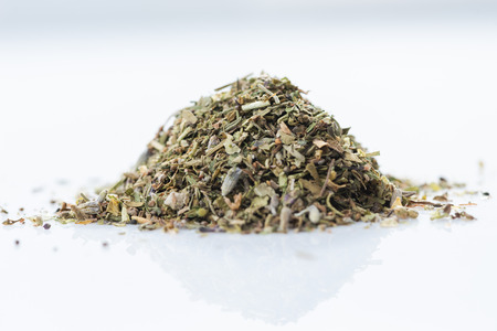 Herbes de provence. Close-up of french herbs blend on white background