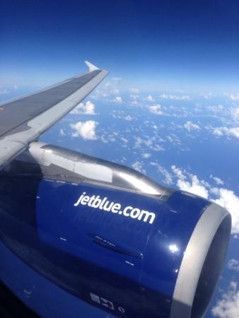 jetblue: JetBlue compagnia aerea, di branding su turbina, on air