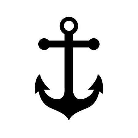 Anchor Black icon Vector. symbol for web site Computer and mobile vector.