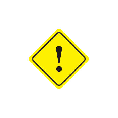 Hazard sign, Attention icon, Hazard warning attention sign vector