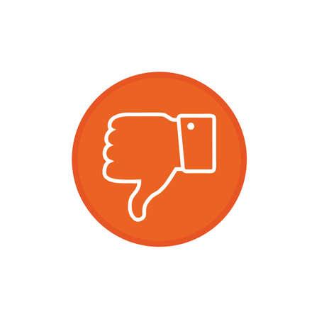Dislike icon Vector. thumbs down icon. Hand Down Icon vector