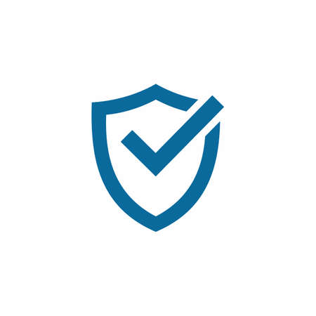 Shield and Check Mark Icon Vector Logo Template. symbol for web site Computer and mobile vector.