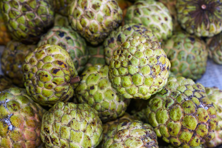 sweetsop: Sugar-apple tropical fruit knows as sweetsop or noi-na