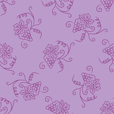 white grape: Hand drawing black and white grape seamless pattern