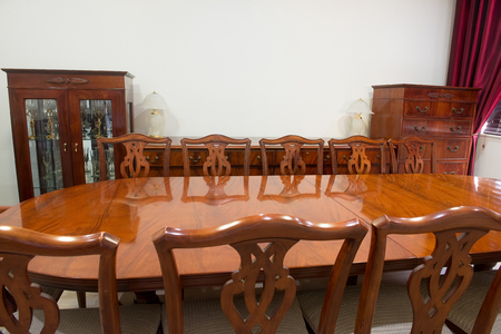 interrior: Louis Style Furniture Dining Room Interrior