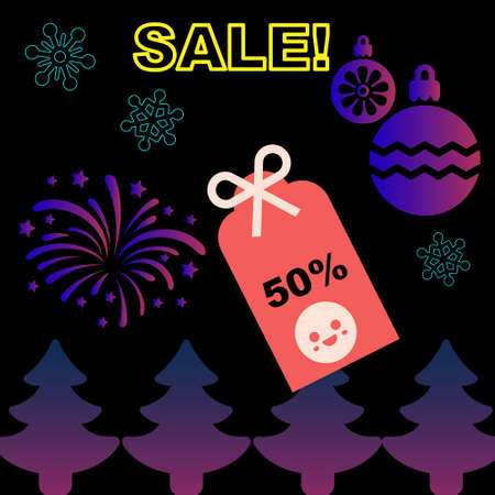 newyear: Christmas and New Year Sale promotion sticker newyear sale design