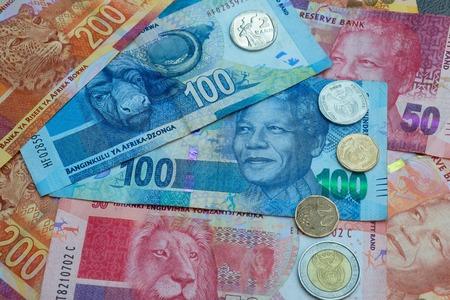 Rand sudafricano valuta e monete sfondo