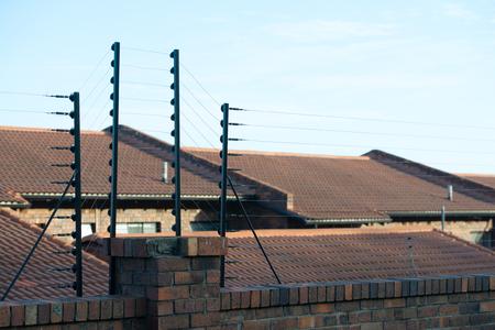 electric shock: cerca eléctrica para el área nacional de protección y seguridad