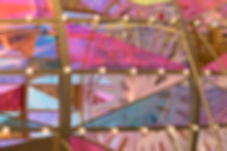 New-year colored glass, light, blur background photo Standard-Bild - 91780116