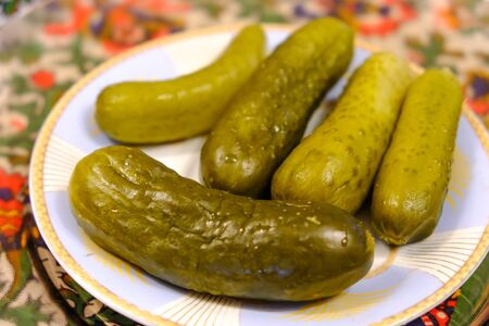 Pickled Organic Cornichon for drink alcohol