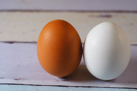 Two eggs of different colours Easter shopping