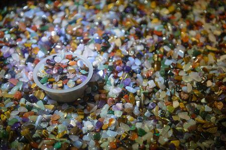 Many kinds of gems in box Banco de Imagens - 143596448