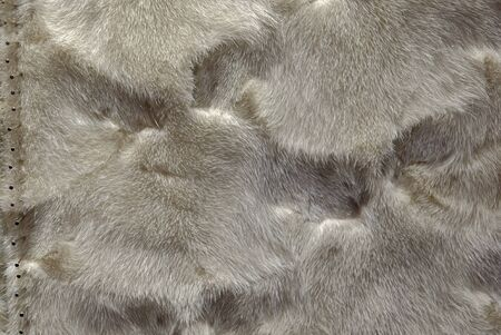 Natural mink fur for sewing fur coats Banco de Imagens - 148614834
