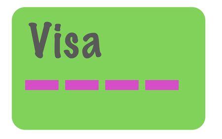 visa card vector illustration