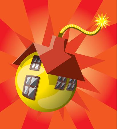 instability: Bomb shaped house