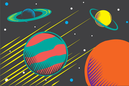 astral: Planets illustration