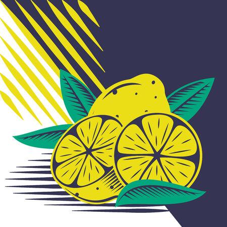Yellow lemon draw composition